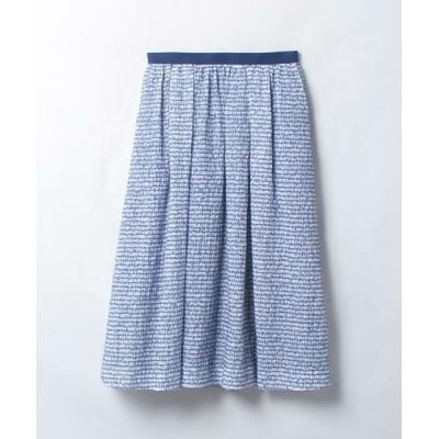 LANVIN en Bleu/ランバン オン ブルー ジャカードギャザースカート ブルー3 38