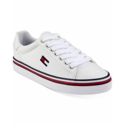 トミー ヒルフィガー レディース スニーカー シューズ Women's Fressian Lace-Up Sneakers White