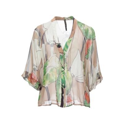 マニラ グレース MANILA GRACE シャツ キャメル 40 シルク 100% シャツ