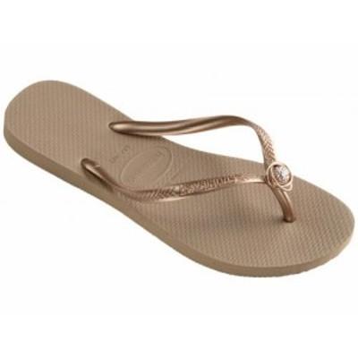 Havaianas ハワイアナス レディース 女性用 シューズ 靴 サンダル Slim Crystal Rings Sandal Rose Gold【送料無料】