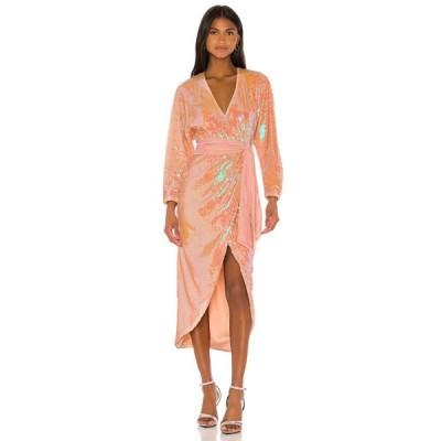 ソング オブ スタイル Song of Style レディース ワンピース ミドル丈 ワンピース・ドレス Vernon Midi Dress Opaline Peach
