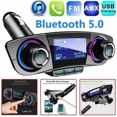 Bluetoothカーキット ワイヤレス 車 MP3プレーヤーfm トランスミッタ ハンズフリー オーディオ 電源をオン受信デュアルusb