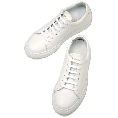 NATIONAL STANDARD【ナショナルスタンダード】レースアップスニーカー W03-WH ALL OVER WHITE スムースレザー ホワイト