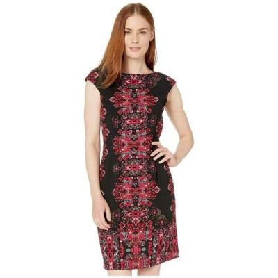 ロンドンタイムス レディース ワンピース トップス Jewel Box Cap Sleeve Crepe Dress