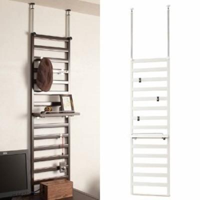 突っ張りラダーラック 家具設置用 幅40cm 棚付き( パーティション つっぱり 送料無料 突ぱり )