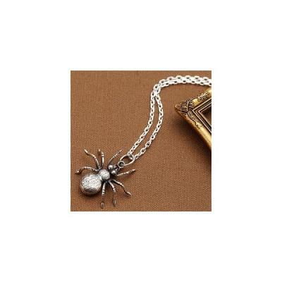 メンズネックレス スパイダーモチーフシルバーネックレスペンダント クモ 蜘蛛 タランチュラ シルバー925 シルバーアクセ ユニセックス silver