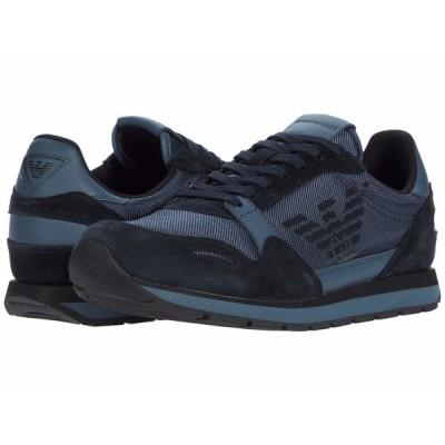 エンポリオ アルマーニ スニーカー シューズ メンズ Eagle Sneaker Slate/Blue