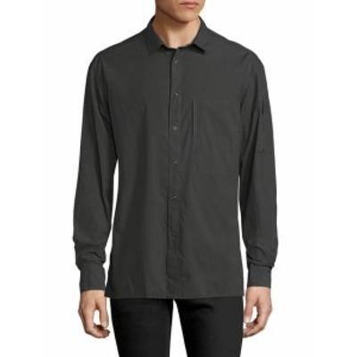 ブラックデニム Men Clothing Solid Spread Collar Sportshirt