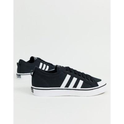 アディダスオリジナルス メンズ スニーカー シューズ adidas Originals Nizza sneakers in black White