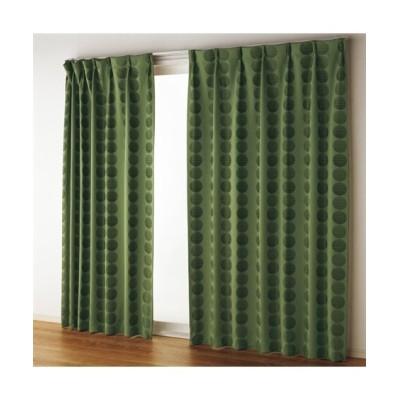 【送料無料!】ドット柄ジャガード織遮熱。防音。1級遮光カーテン&レースセット カーテン&レースセット, Curtains, sheer curtains, net curtains(ニッセン、nissen)