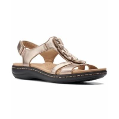 クラークス レディース サンダル シューズ Laurieann Kay T-strap Slingback Sandals Metallic