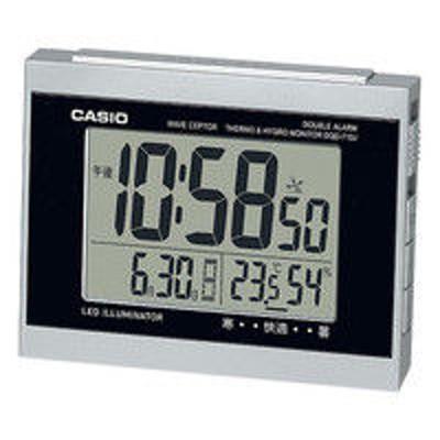 カシオ計算機CASIO(カシオ)置き時計 [電波 アラーム 温湿度 カレンダー] 88×117×71mm DQD-710J-8JF 1個(取寄品)