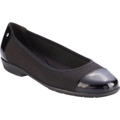 ウォーキング クレードル Walking Cradles レディース スリッポン・フラット ハンチング シューズ・靴 Felicity Cap Toe Flat Black Textile