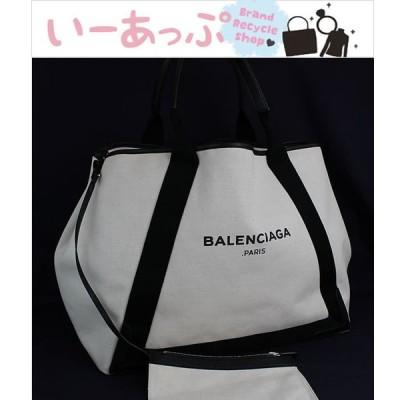 バレンシアガ カバス トートバッグ ハンドバッグ ホワイト×ブラック 美品 l439