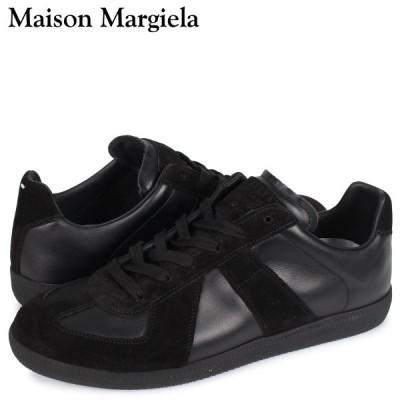 訳あり BOXなし メゾンマルジェラ MAISON MARGIELA レプリカ ロートップ スニーカー メンズ REPLICA LOW TOP ブラック 黒 S57WS0236 返品不可