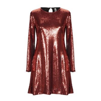 スーベニア SOUVENIR ミニワンピース&ドレス カッパー S ポリエステル 85% / ナイロン 15% ミニワンピース&ドレス