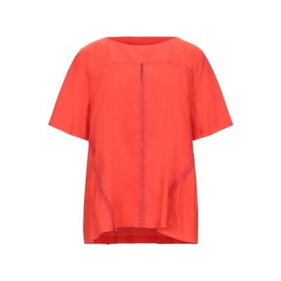 PIERANTONIO GASPARI ブラウス オレンジ 48 コットン 77% / ナイロン 20% / ポリウレタン 3% ブラウス
