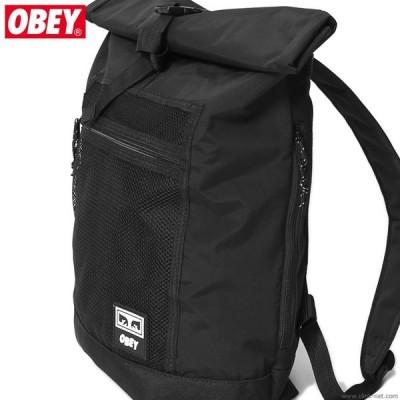 オベイ OBEY CONDITIONS ROLL TOP BAG (BLACK) メンズ バック バックパック