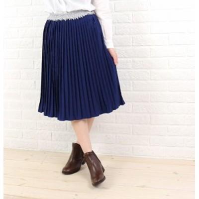 Bon Vieux Temps(ボン・ヴュー・タン) ポリエステル膝下丈 プリーツスカート・47899・0301502    レディース 女性 誕生日プレゼント ギフ