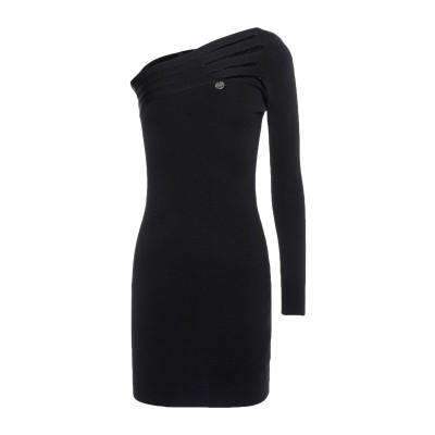 MANGANO ミニワンピース&ドレス ブラック S レーヨン 52% / アクリル 48% ミニワンピース&ドレス