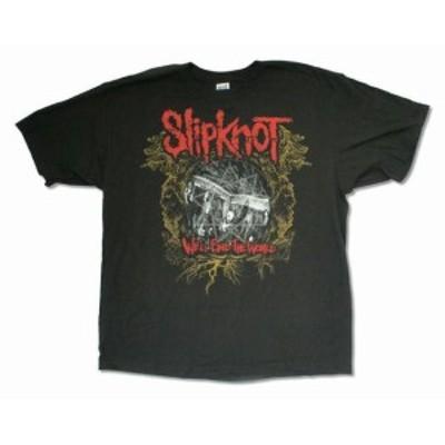 ファッション トップス Slipknot-Crest -Well End The World-X-Large Black T-shirt