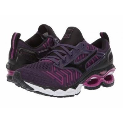 Mizuno ミズノ レディース 女性用 シューズ 靴 スニーカー 運動靴 Wave Creation C1 Knit Plum/Black【送料無料】