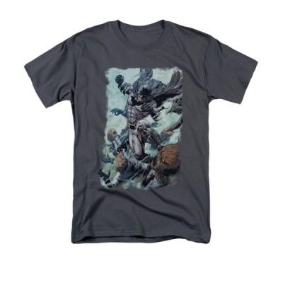 Tシャツ ディーシーコミックス Batman Dark Knight Punch DC Comics Licensed Adult Shirt S-3XL