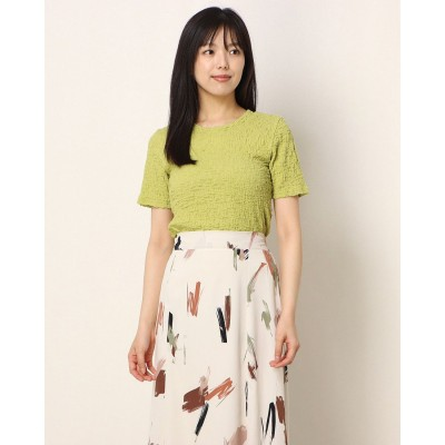 ランダ RANDA シャーリングコットンTシャツ (GREEN)