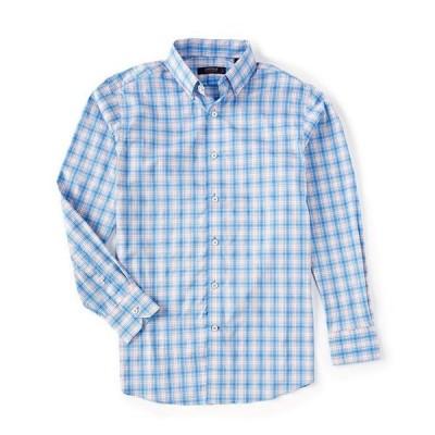 ダニエル クレミュ メンズ シャツ トップス Plaid Performance Stretch Periwinkle Long-Sleeve Woven Shirt