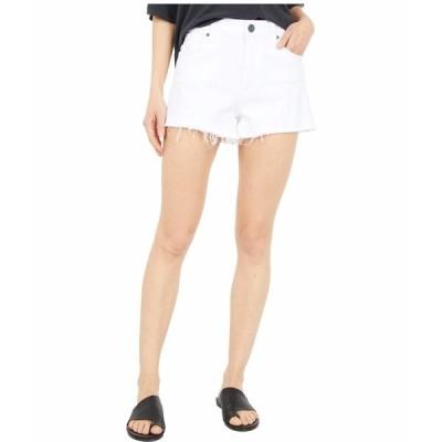 カットフロムザクロス ハーフ&ショーツ ボトムス レディース Jane High-Rise Shorts with Fray Hem in Optic White Optic White