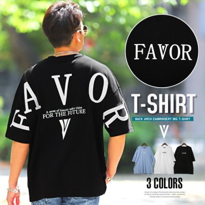 Tシャツ メンズ 半袖 ビッグシルエット バックプリント アーチロゴ 刺繍 ルーズ ストリート