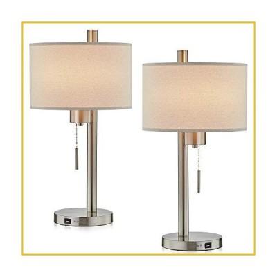 【☆送料無料☆新品・未使用品☆】Modern Table Lamp Set of 2 with Hotel Style USB Charging Port for Bedroom Living Room Bedsid