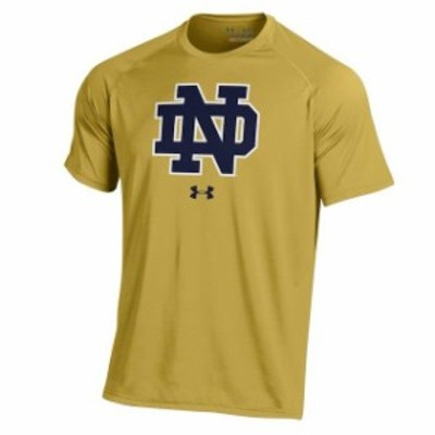Under Armour アンダー アーマー スポーツ用品  Under Armour Notre Dame Fighting Irish Gold School Logo Performance T