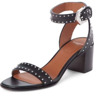 ジバンシー GIVENCHY レディース サンダル・ミュール アンクルストラップ シューズ・靴 Studded Ankle Strap Sandal Black Leather