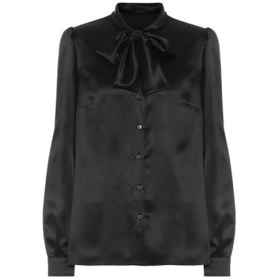 ドルチェ&ガッバーナ Dolce & Gabbana レディース ブラウス・シャツ トップス Silk-satin blouse Black