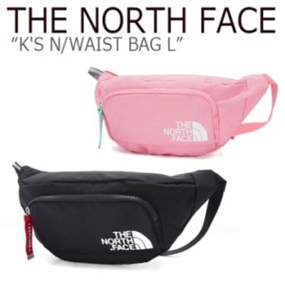 ノースフェイス ウエストポーチ THE NORTH FACE キッズ K'S N WAIST BAG L ウエストバッグ L ブラック ピンク NN2HK51R/S バッグ