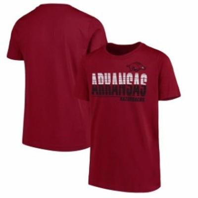New Agenda ニュー アジェンダ スポーツ用品  New Agenda Arkansas Razorbacks Youth Cardinal Decision T-Shirt