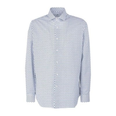 UNGARO 柄入りシャツ ファッション  メンズファッション  トップス  シャツ、カジュアルシャツ  長袖 ホワイト