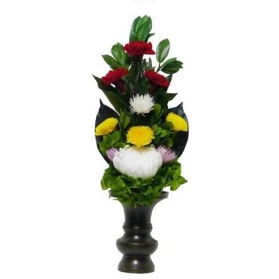 【仏花倶楽部】のプリザーブドフラワー仏花027 サイズM :仏壇用花束アレンジメント