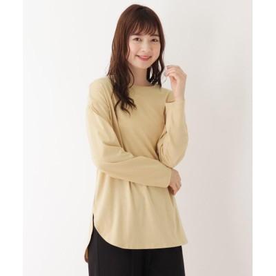 pink adobe(ピンクアドベ) 【抗菌防臭】シンプルロングTシャツ