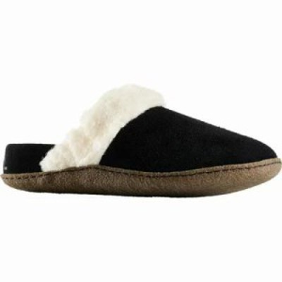 ソレル スリッパ Nakiska Slide II Slipper Black/Natural Suede