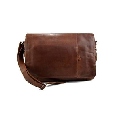 Genuine italian leather XXL shoulder messenger bag ipad laptop ladies men notebook leatherbag satchel brown crossbody business executive bag 並行輸