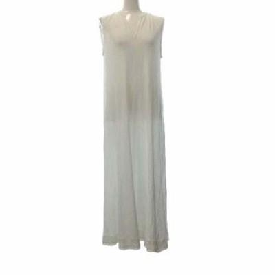 【中古】エイトン 18SS ワンピース ロング HONEYCOMB COTTON BOX TUCK LONG DRESS コットン 2 白 ホワイト レディース