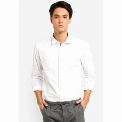 エスプリ シャツ Woven Long Sleeve Shirt White
