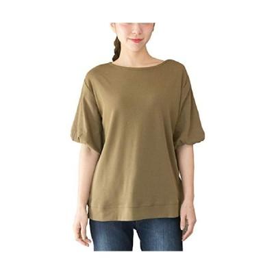 [ハッピー ホヌ] L KA フレア ドロップ ショルダー Tシャツ tシャツ 半袖 女子 ワンピ 人気 ギャル ビッグシルエット チュニック ガール