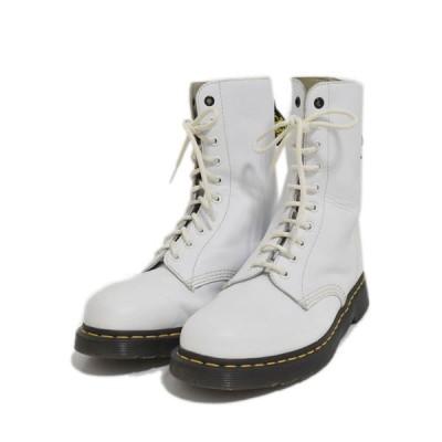 【9月3日値下】Dr.Martens × Y's 10ホールブーツ ホワイト サイズ:UK8(27cm) (アメリカ村店)