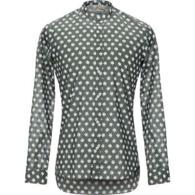 マニュエル リッツ MANUEL RITZ メンズ シャツ トップス patterned shirt Military green