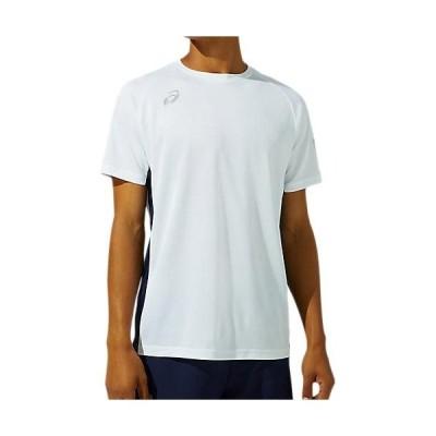 アシックス(asics) メンズ SAショートスリーブトップ ブリリアントホワイト/ピーコート 2031C230 100 半袖 Tシャツ トップス スポーツウェア