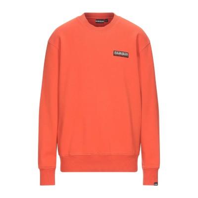 ナパピリ NAPAPIJRI スウェットシャツ オレンジ L コットン 100% / ポリウレタン スウェットシャツ