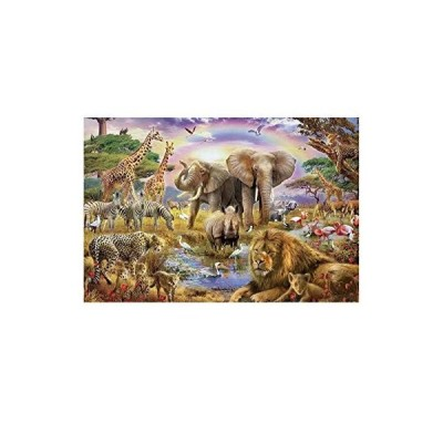 7-Mi Wood Jigsaw Puzzles 1000 Pieces for Adults Kids-Animal World, Every Piece is Made of Basswood, Softclick Technology Means Pieces Fit Together Per
